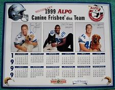 "Dallas Cowboys 1999 ALPO Calendar ~ Coach JASON GARRETT WOODSON ""MOOSE"" JOHNSTON"