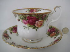 ROYAL ALBERT MADE IN ENGLAND LARGE BREAKFAST CUP AND SAUCER OLD COUNTRY ROSES
