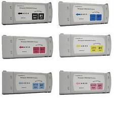 6 NEW Compatible Cartridges fits HP Designjet 5000 5500 for HP 81 UV Dye INK