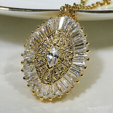 18K Yellow Gold Filled CZ Women Fashion Jewelry Luxury Necklace Pendant P2000