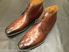 MAGNANNI BROWN LEATHER DRESS BOOTS SIZE US 13 MADE IN SPAIN