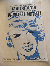 Partition Volupta V Marceau Princesse Musette J Verschueren 1960 Music Sheet