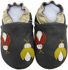 carozoo firefly dark purple 6-12m soft sole leather baby shoes