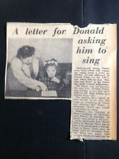m1-5 ephemera 1949 Article Walthamstow Letter To Donald Peers Diana Foster