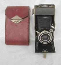 Agfa Folding Billy Record Camera Anastigmat Jgestar F:7.7 lens Case 1933-1942