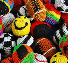 WHOLESALE LOT 48 ASST.KICK BALLS WOVEN HACKY SACK FOOT BALLS BAGS HACKEY PARTY