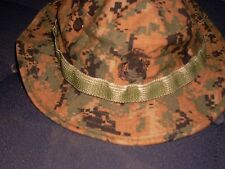 BOONIE COVER HAT WOODLAND MARPAT USMC MARINE  SIZE medium new w/ tag