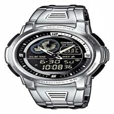 Casio Aqf-102Wd-1Bvef Mens Analog & Digital Quartz Multifunction Watch W/ Steel