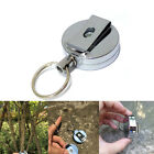 Metal Reel Badge Retractable Pull Chain ID Card Holder Recoil Ring Belt Clip