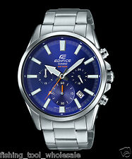 EFV-510D-2A Blue Men's Watches Casio Edifice Chronograph 100m World time New