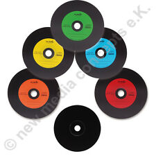 25 VINILE COLORATO CD vergini DISCO DESIGN LABEL-Carbon, CD-R 700 MB