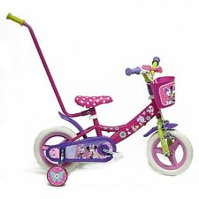 Disney Minnie Mouse Clubhouse Kids Bike 10'' inch OFFICIAL PRODUCT, Push Bar