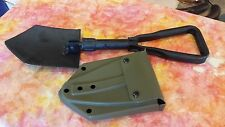 "U.S MILITARY ISSUE 23"" SHOVEL TRI FOLD SHOVEL HOE AXE w/case SURVIVAL ARMY USMC"