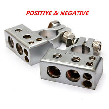 Car Battery Terminal Clamp Copper Alloy Connector With Cover POSITIVE & NEGATIVE