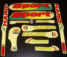 HARO SPORT BMX Sticker Set Early '90s Old School Freestyle BMX Decal Set