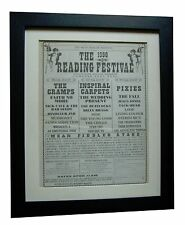 READING FESTIVAL+ORIGINAL 1990+ROCK+POSTER+AD+FRAMED+EXPRESS GLOBAL SHIP+TICKETS