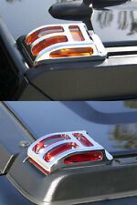 Hummer H2 Chrome Billet Top Corner Marker Light Guards / Cages, Set of 4