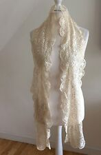 Antique 1800s Shimmering Silk Maltese Lace Lappet Mantilla French Exquisite