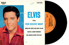"ELVIS PRESLEY - YOUR CHEATIN' HEART - RARE EP 7"" 45 VINYL RECORD PIC SLV"