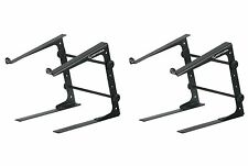 (2) Odyssey LSTANDS Adjustable Stand-Alone Tabletop Laptop Pro DJ Stands - Black