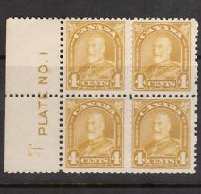 Canada #168 VF/NH Plate #1 Reversed & Inverted Center UL Block