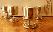 Magnetic levitation spike feet for hifi in polished brass and stainless steel