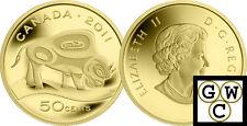 2011 Proof 50-Cent 'Wood Bison' 1/25oz Gold .9999 Fine (12912)