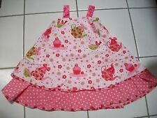 NWT JELLY THE PUG Girl 6X Patty Dress Teapot Strawberry Cupcake Apron Easter