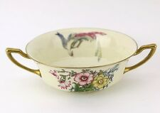 ROSENTHAL PHOENIX Bavaria Bullion Cup Gold Bird Floral Vtg Antique IVORY China