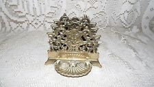 VINTAGE ORNATE BRASS LETTER NAPKIN HOLDER FANCY DESIGN WITH GRIFFINS