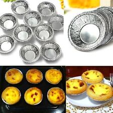 Cake Muffin Cupcake Cookie Silver Aluminum Foil Cup Disposable Egg Tarts Mould