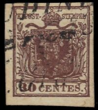 "LOMBARDY VENETIA 5d (Mi4mii) - Coat of Arms ""1854 Red Brown"" (pf90131)"