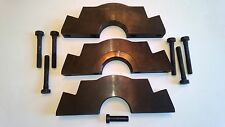 Main Bearing Caps Billet Steel FORD 351W Splayed Bolt 3 Cap Set with Bolts