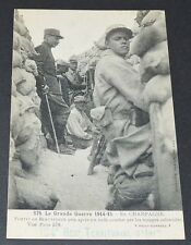 CPA 1915 GUERRE 14-18 CHAMPAGNE FORTIN BEAUSEJOUR TROUPES COLONIALES TRANCHEES