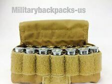 NEW USMC Military Coyote Brown Molle 24 Round Shotgun Shell Ammo Pouch