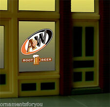 Miller's A&W Rootbeer Animated Neon Window Sign #6666   O Scale