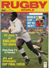 RUGBY WORLD MAGAZINE MAY 1988 - PERFECT GIFT FOR A FAN BORN IN THIS MONTH