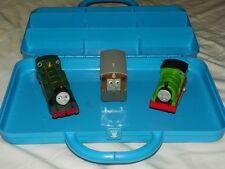 Vintage 1992 THOMAS THE TRAIN engine & Friends STORAGE CASE + 3 Vehicles Limited