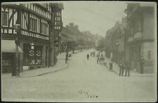 1924 Edward Street Leek RP Postcard Staffordshire Rowntrees Shop Window