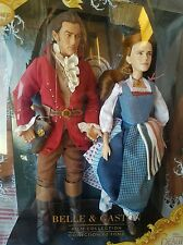 Disney Film Collection Beauty & the Beast Belle & Gaston Emma Watson Dolls NEW