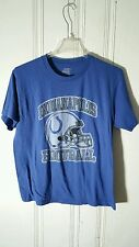 INDIANAPOLIS COLTS TEE BLUE SHORT SLEEVE GRAPHIC LARGE