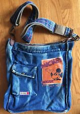 DISNEY VINTAGE MICKEY MOUSE Denim Cross Body Messenger Bag ~ Rare find!