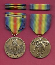 One full size WWI Victory medal  World War I medal with ribbon bar