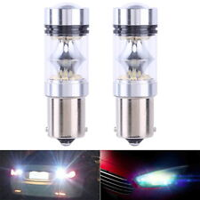 2Pcs 1156 100W 20SMD High Power Luxury Car Led Reverse Running Light Bulb White