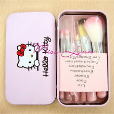 Pink Hello Kitty Makeup Brush set 7pcs Powder Eyeshadow Eyeliner Lip Brush Tool