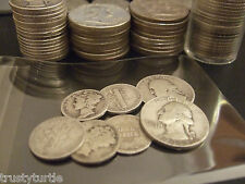 $1 90% Silver Coins Lot Half Dollar Quarter Dimes Bullion Prepper Barter NO JUNK