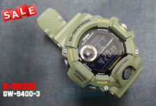 G-SHOCK BRAND NEW WITH TAG GW-9400-3 Rangeman Military GREEN Triple Sensor WATCH