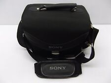 Sony Handycam Camera Multi-Pocket Padded Carry Bag w/ Strap Black, Universal Use