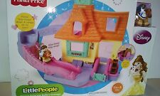 Fisher-Price Disney Little People Belle Klip Klop Cottage Girls 18 mos-5  2013