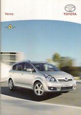 Toyota Verso 2007-08 UK Market Sales Brochure T2 T3 T Spirit T180 1.6 1.8 2.2D4D
